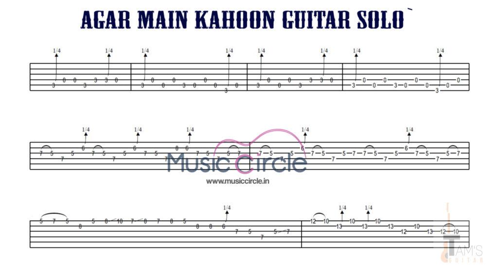 agar main kahoon guitar tabs